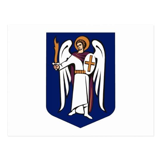 Postal del escudo de armas de Kiev