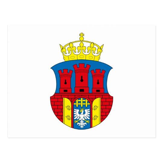 Postal del escudo de armas de Kraków