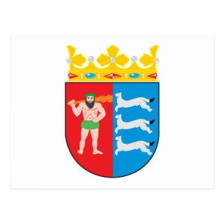 Postal del escudo de armas de Laponia