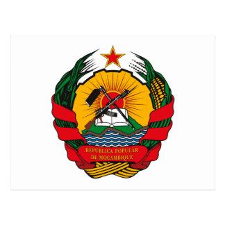 Postal del escudo de armas de Mozambique