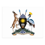 Postal del escudo de armas de Uganda