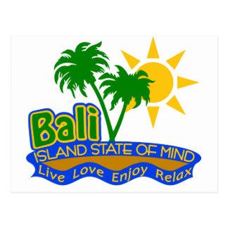 Postal del estado de ánimo de Bali