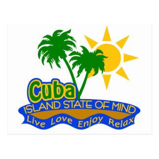 Postal del estado de ánimo de Cuba