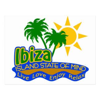 Postal del estado de ánimo de Ibiza