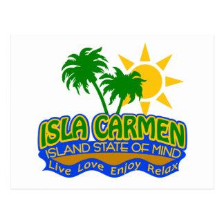 Postal del estado de ánimo de Isla Carmen