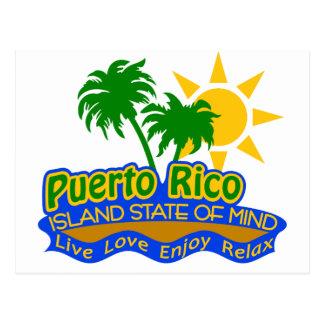 Postal del estado de ánimo de Puerto Rico