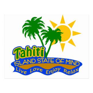 Postal del estado de ánimo de Tahití