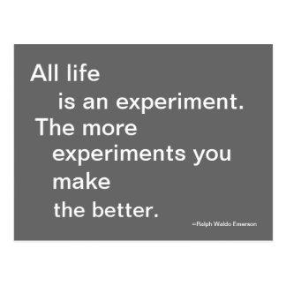 Postal del experimento de la vida cotizable