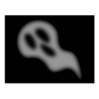 Postal del fantasma de Halloween
