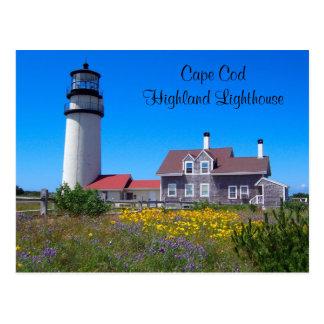 Postal del faro de la montaña de Cape Cod