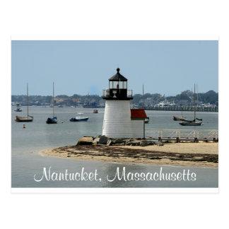 Postal del faro del punto de Nantucket mA Brandt