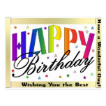 Postal del feliz cumpleaños