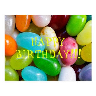 Postal del feliz cumpleaños de la haba de jalea