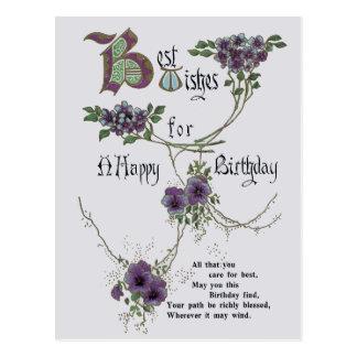 Postal del feliz cumpleaños del vintage