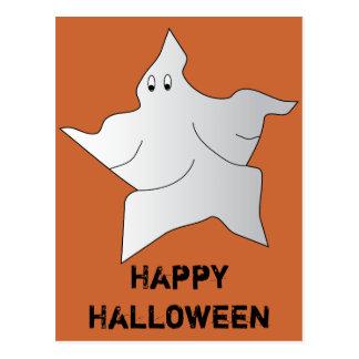 Postal del feliz Halloween del fantasma