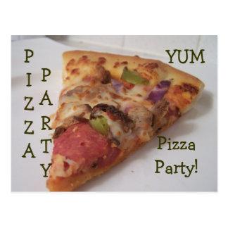 postal del fiesta de la pizza