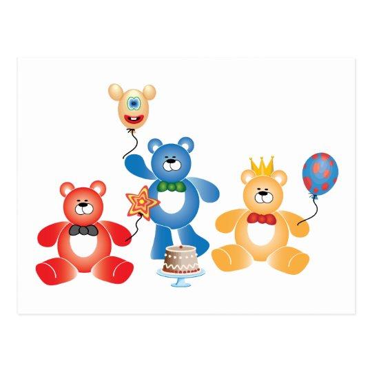 Postal del fiesta de Teddybear