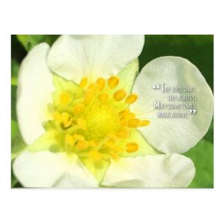 postal del flor de la fresa