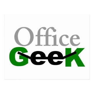 Postal del friki de la oficina