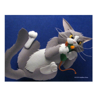 Postal del gato y del ratón