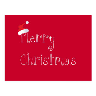 Postal del gorra de Santa del navidad