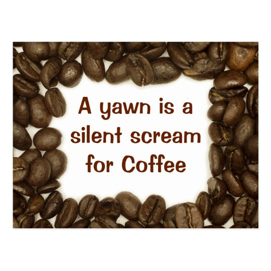 Postal del grano de café