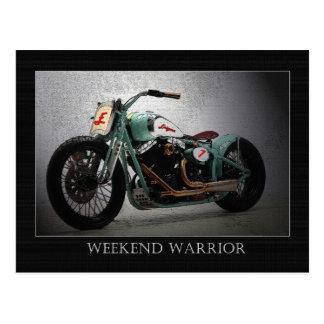 Postal del guerrero del fin de semana