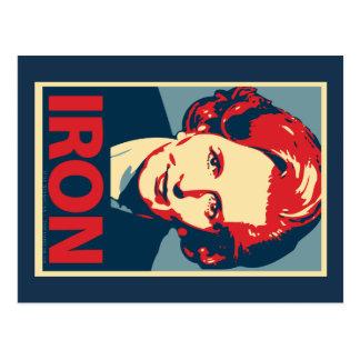 """Postal del """"hierro"""" de Margaret Thatcher"""