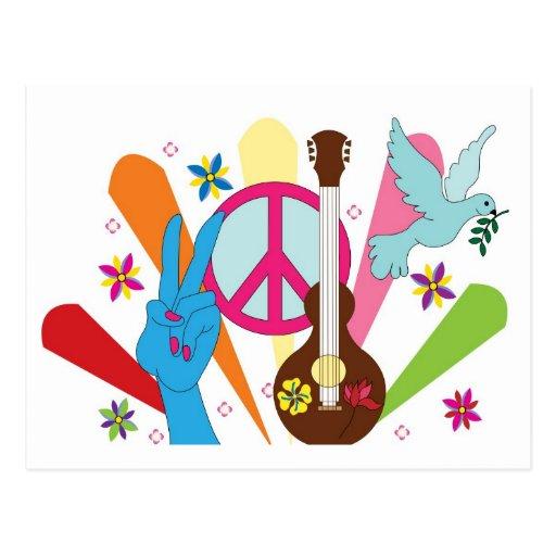 postal del hippie