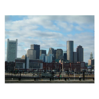 Postal del horizonte de Boston