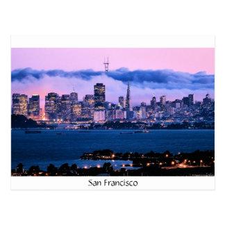 Postal del horizonte de San Francisco