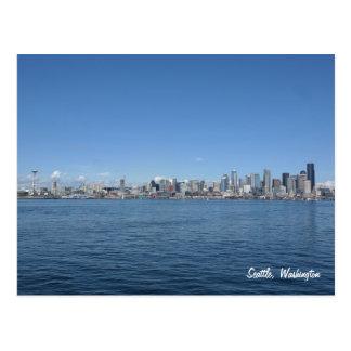 Postal del horizonte de Seattle Washington