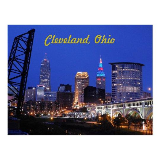 Postal del horizonte del lado oeste de Cleveland,