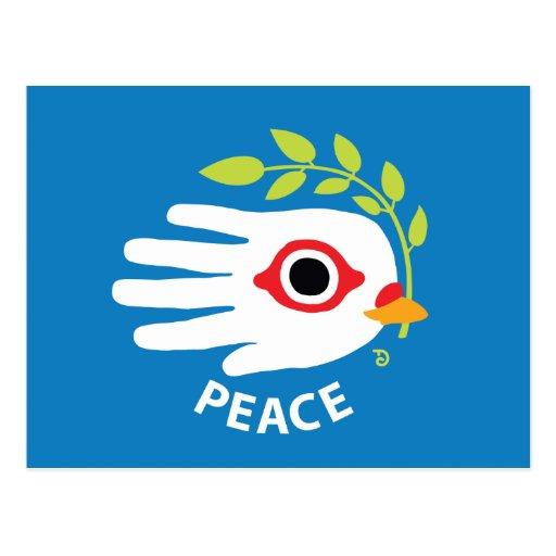 Postal del inglés de la paz