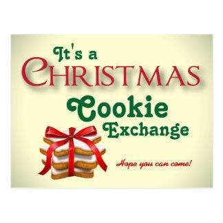 Postal del intercambio de la galleta del navidad