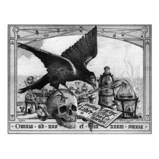 postal del laboratorio de la alquimia
