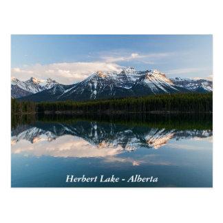Postal del lago herbert, Alberta, Canadá