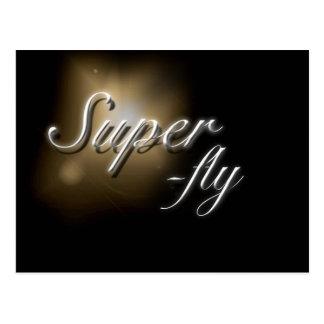 "postal del lema de la ""Estupendo-mosca"""