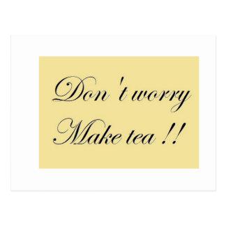 Postal del lema del tiempo del té