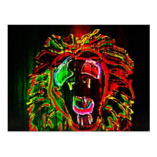 Postal del león de Rasta