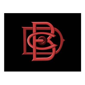 Postal del logotipo de Dunham Bros Company DBC
