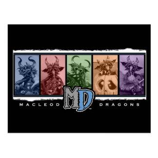 Postal del logotipo de la barra coloreada del MD