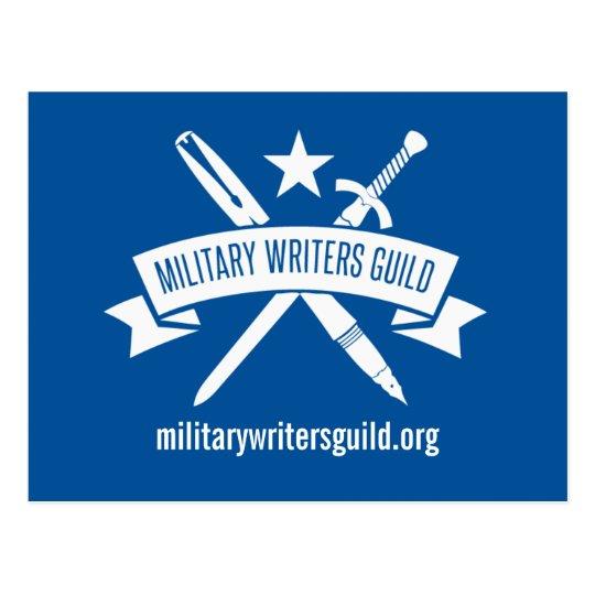 Postal del logotipo de MWG, azul de la academia de