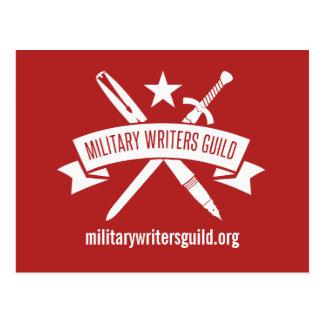 Postal del logotipo de MWG, rojo del día de fiesta