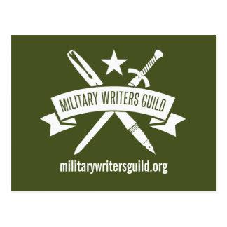 Postal del logotipo de MWG, uniforme militar