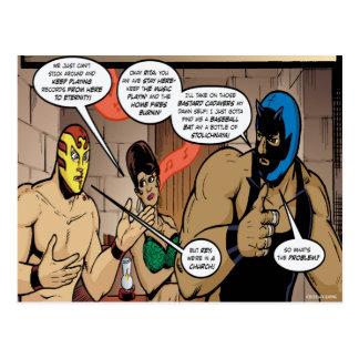 Postal del Los Luchadores Mysteriosos
