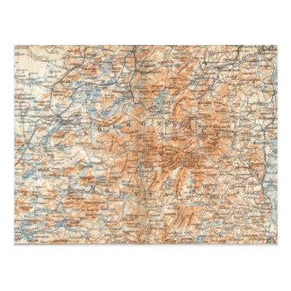 Postal del mapa de Adirondack