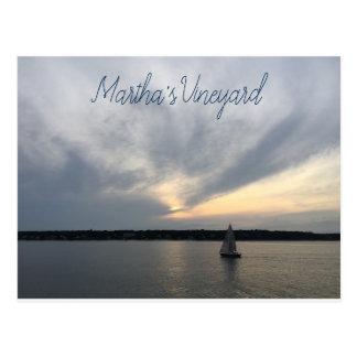 Postal del Martha's Vineyard del velero