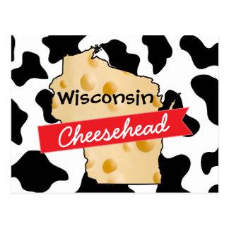 Postal del modelo de la vaca de Wisconsin