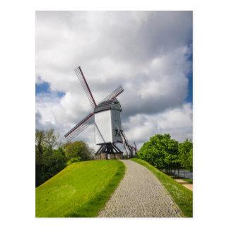 Postal del molino de viento de Brujas